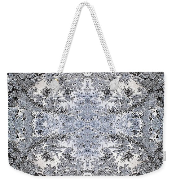 Intricate Frost Pattern Weekender Tote Bag