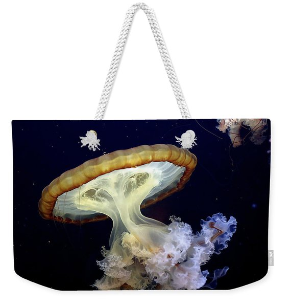 Invasion Of The Japanese Sea Nettles Weekender Tote Bag