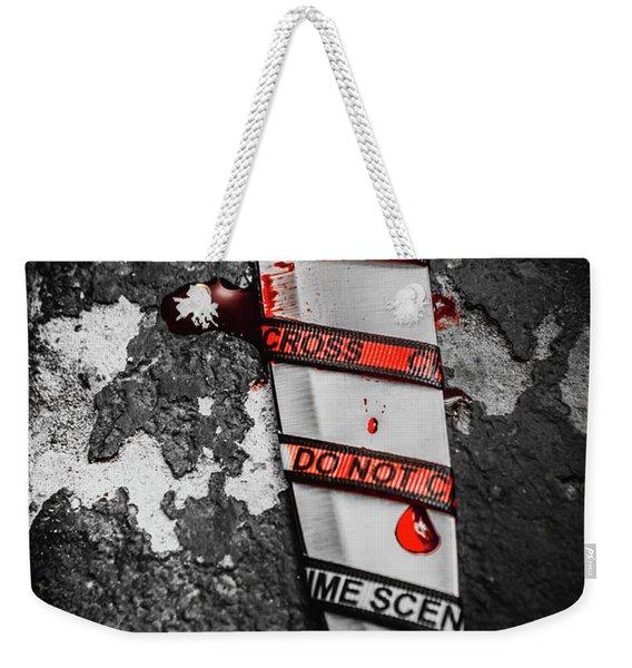 Investigation Of Cross Examination Weekender Tote Bag