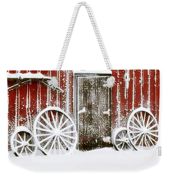 Iowa Blizzard Weekender Tote Bag