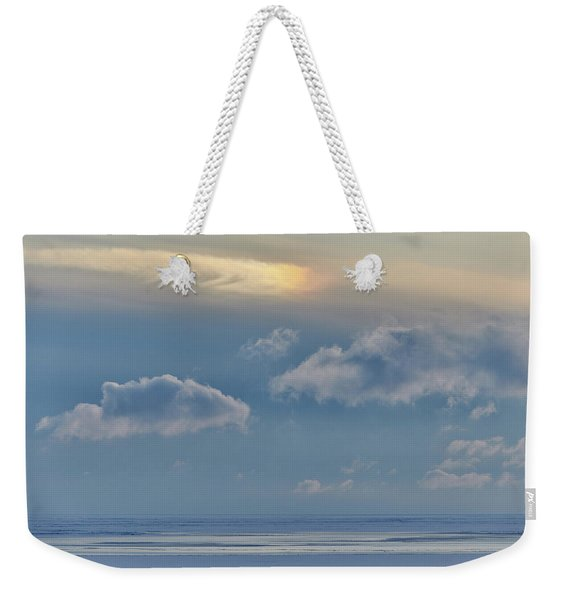 Weekender Tote Bag featuring the photograph Iridescence Horizon by Doug Gibbons