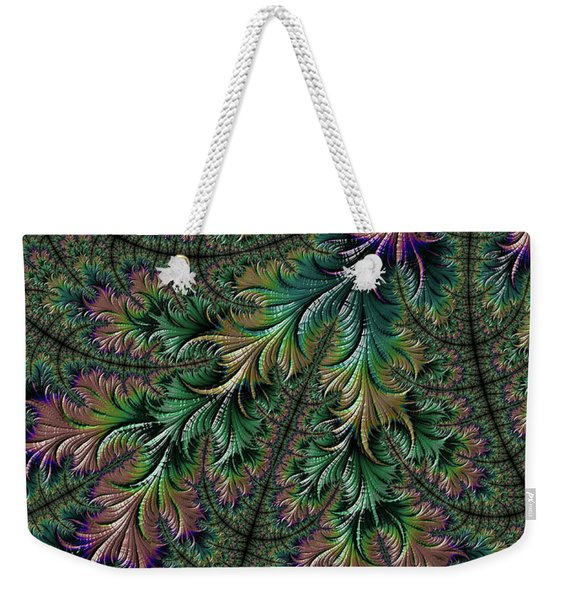 Iridescent Feathers Weekender Tote Bag