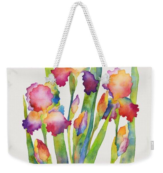 Iris Elegance Weekender Tote Bag