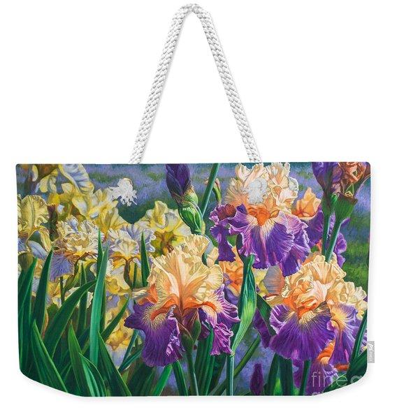 Iris Garden 1 Weekender Tote Bag