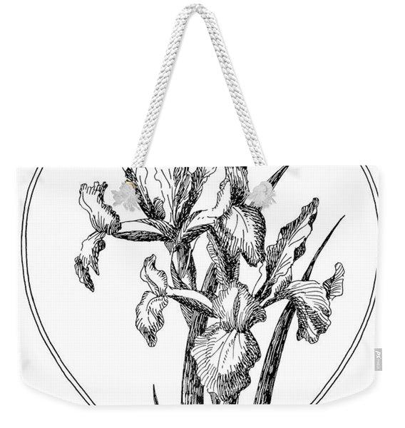 Iris Heart Drawing 3 Weekender Tote Bag