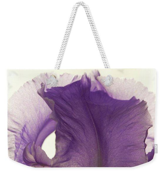 Simplicity Of The Purple Iris Weekender Tote Bag