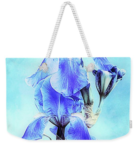 Iris Pair In Blue Weekender Tote Bag