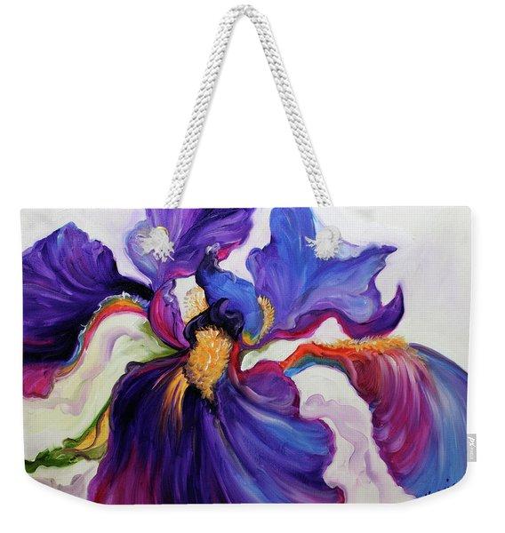 Iris Serenity Weekender Tote Bag