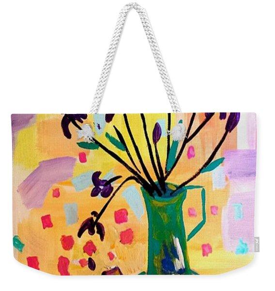 Iris Spring Weekender Tote Bag