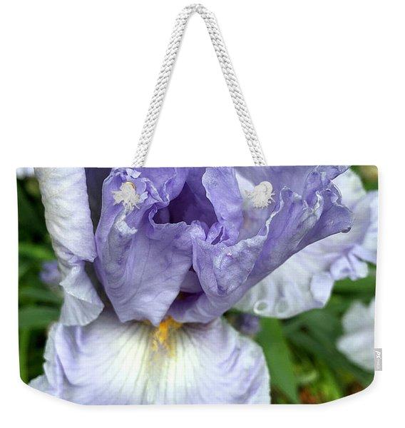 Iris Up Close Weekender Tote Bag