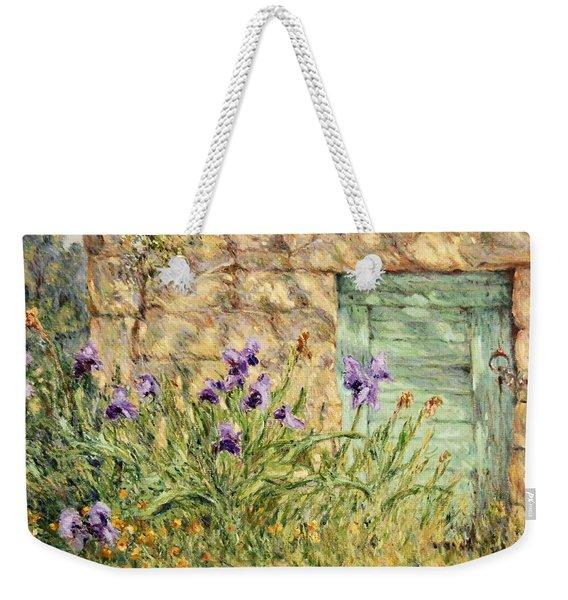 Irises At The Old Barn Weekender Tote Bag