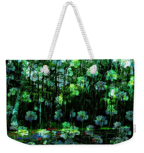 Irises Falling From A Southern Sky  Weekender Tote Bag