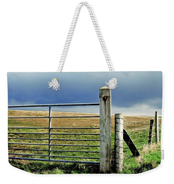 Weekender Tote Bag featuring the photograph Irish Field by Patricia Strand