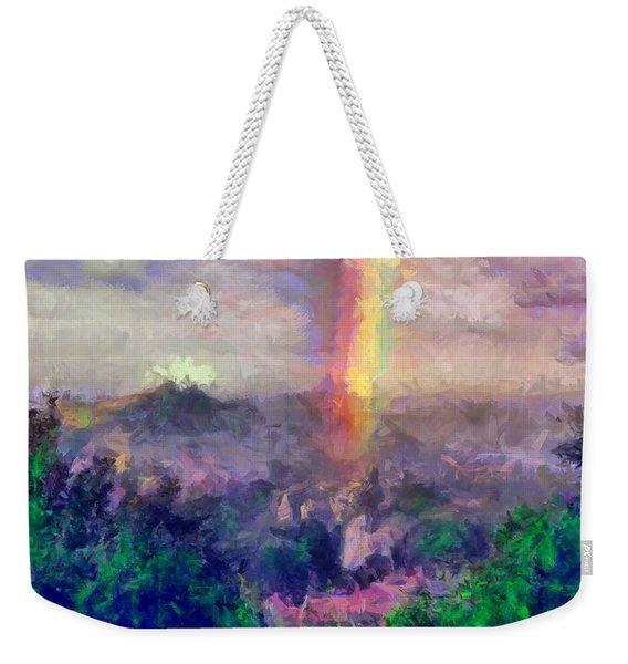 Irish Rainbow Weekender Tote Bag