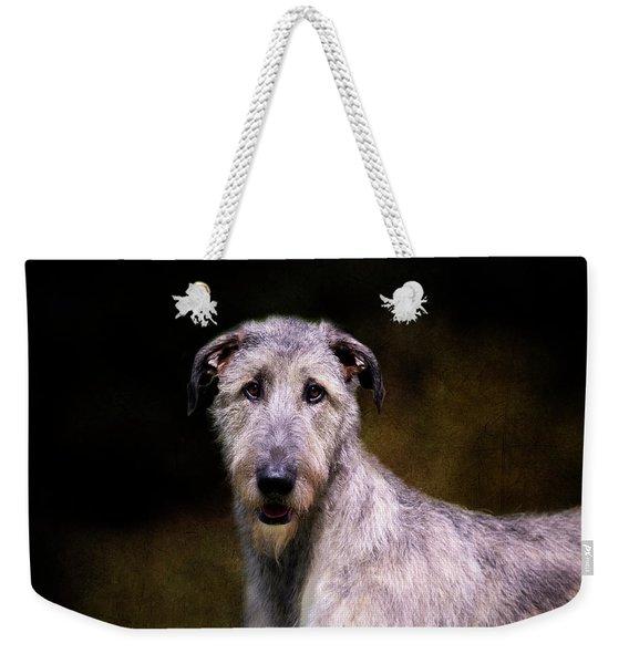 Irish Wolfhound Portrait Weekender Tote Bag