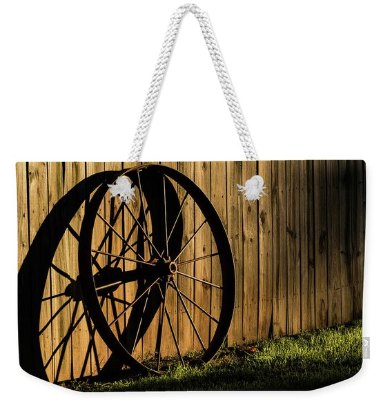 Iron Wheel Weekender Tote Bag