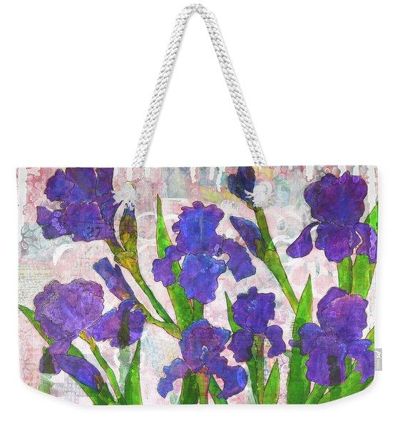 Irresistible Irises Weekender Tote Bag
