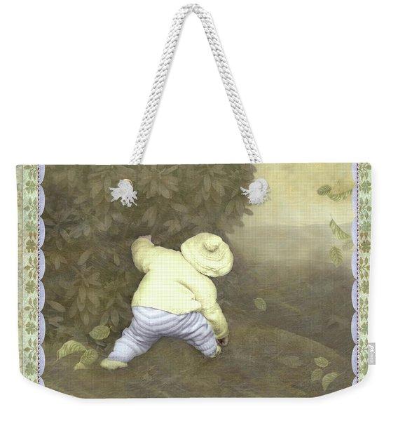 Is Bunny In Bushes? Weekender Tote Bag