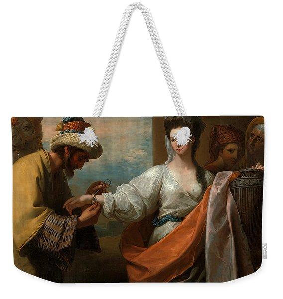 Isaac's Servant Tying The Bracelet On Rebecca's Arm Weekender Tote Bag