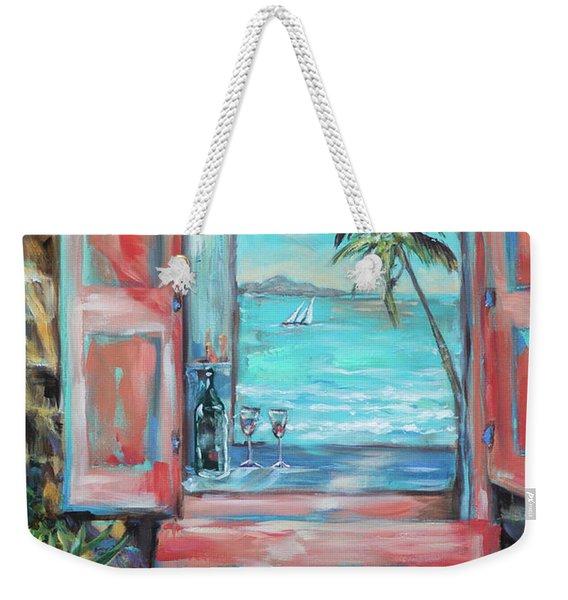 Island Bar Coral Weekender Tote Bag