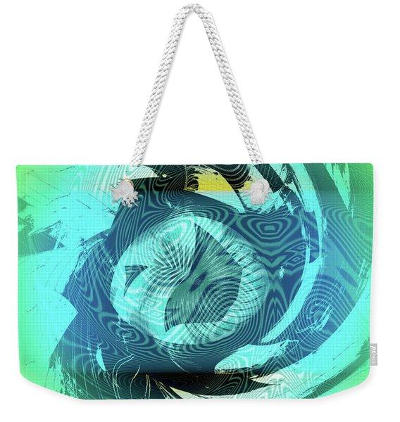 Weekender Tote Bag featuring the digital art Island Bay by Visual Artist Frank Bonilla