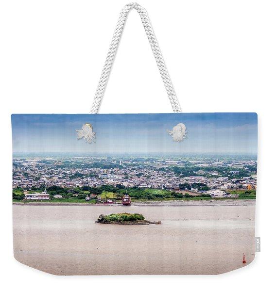 Island In The River Weekender Tote Bag