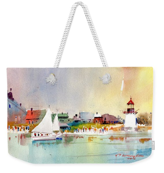 Island Light Weekender Tote Bag