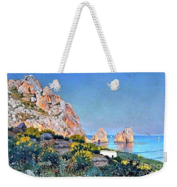 Island Of Capri - Gulf Of Naples Weekender Tote Bag
