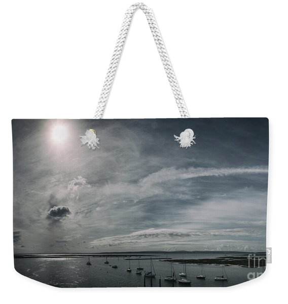 Weekender Tote Bag featuring the photograph Island Panorama by Clayton Bastiani