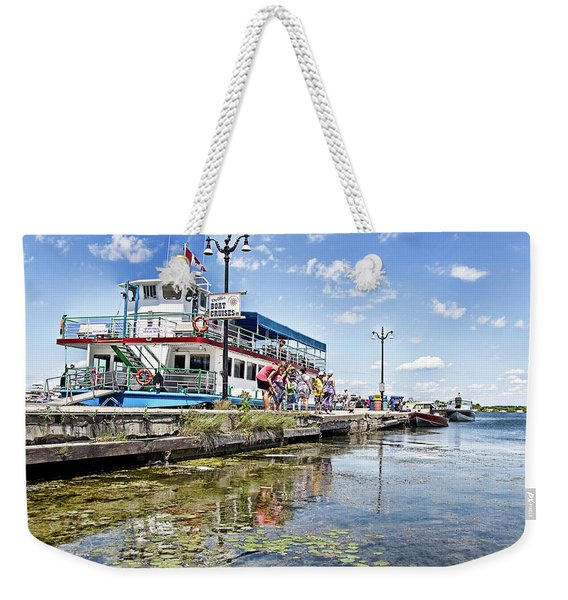 Island Princess At Harbour Dock Weekender Tote Bag