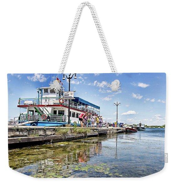 Island Princess At Harbour Dock Weekender Tote Bag