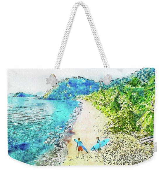 Island Surfers Weekender Tote Bag