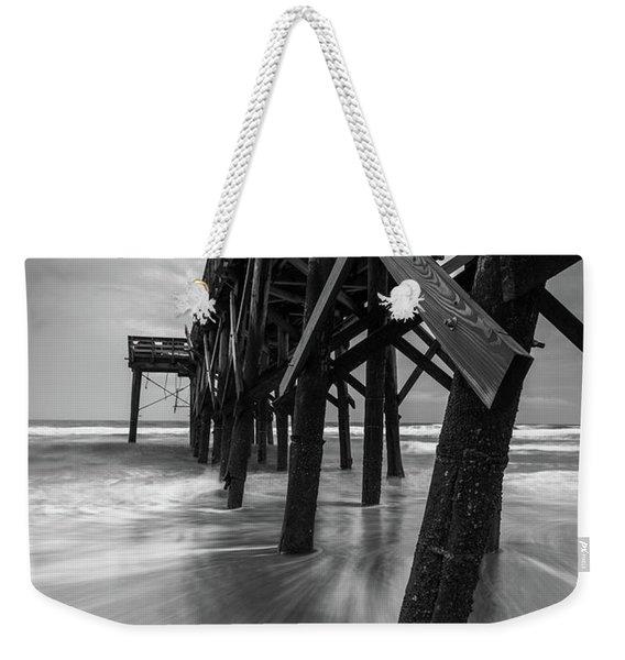 Isle Of Palms Pier Water In Motion Weekender Tote Bag