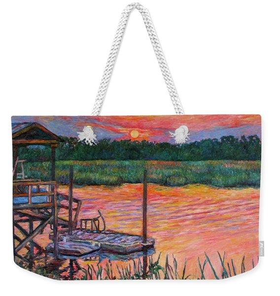 Isle Of Palms Sunset Weekender Tote Bag