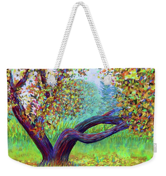 Islesford Apple Tree Near The Dock Weekender Tote Bag