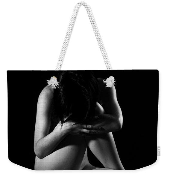 Isolated Girl Weekender Tote Bag