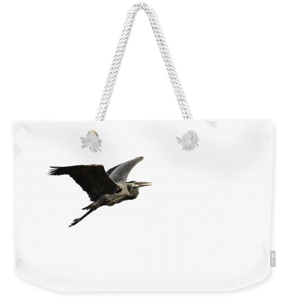 Isolated Great Blue Heron 2015-3 Weekender Tote Bag
