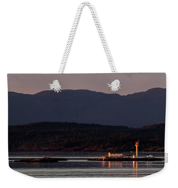 Isolated Lighthouse Weekender Tote Bag