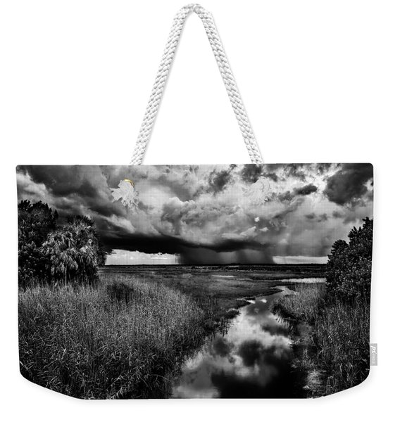 Isolated Shower - Bw Weekender Tote Bag