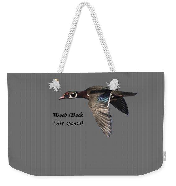 Isolated Wood Duck 2017-1 Weekender Tote Bag
