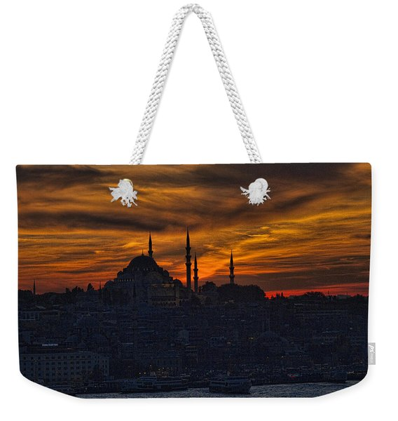 Istanbul Sunset - A Call To Prayer Weekender Tote Bag