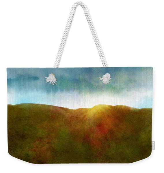 Weekender Tote Bag featuring the digital art It Began To Dawn by Antonio Romero