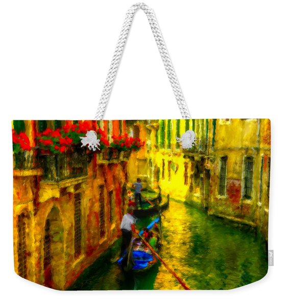 Italian Red Weekender Tote Bag