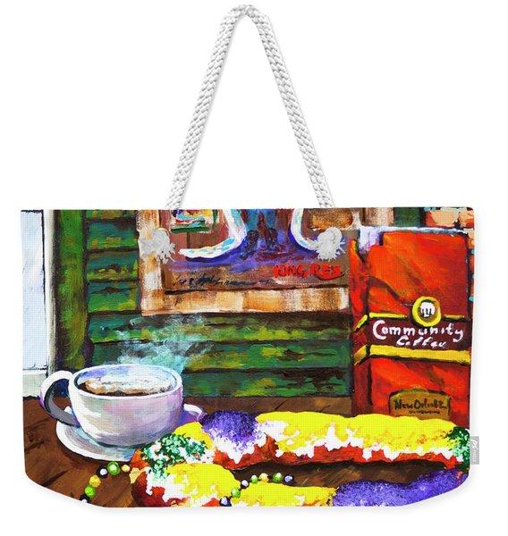 It's Mardi Gras Time Weekender Tote Bag