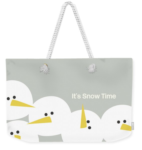 It's Snow Time Snow Heads- Art By Linda Woods Weekender Tote Bag