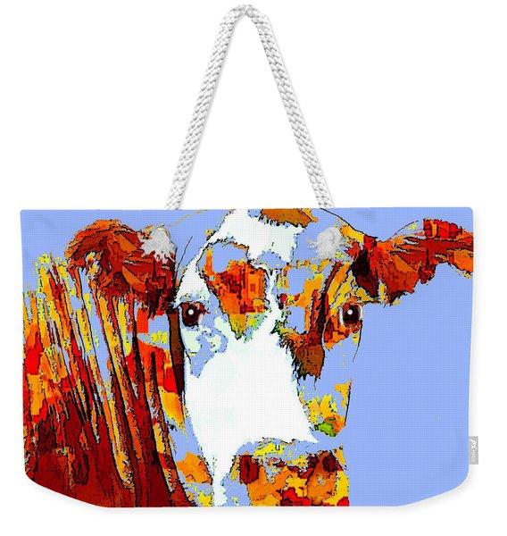 Purple Cow Weekender Tote Bag