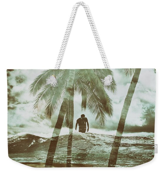 Izzy Jive And Palms Weekender Tote Bag