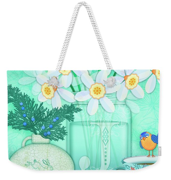 J Is For Jar Of Jonquils Weekender Tote Bag
