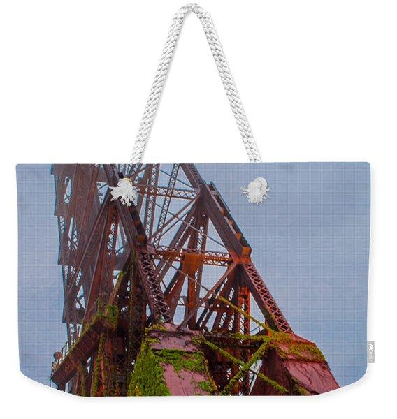 Jack Knife Bridge Weekender Tote Bag