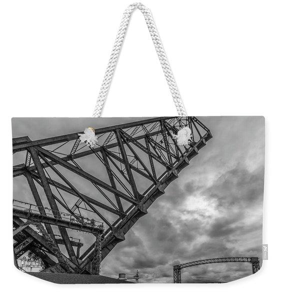 Jackknife Bridge To The Clouds B And W Weekender Tote Bag